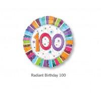 100 鋁箔氣球 - Radiant Birthday 100