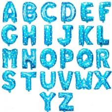 粉藍色字母氣球 - 16寸