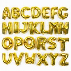 金色字母氣球 - 16寸