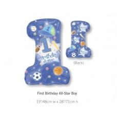 1st Birthday 鋁箔數字氣球 - All Star Boy