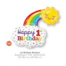 1st Birthday Rainbow 氣球