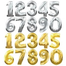 金銀色數字氣球 - 35寸