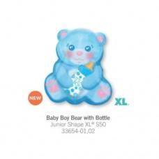 Baby Boy Bear With Bottle 氣球