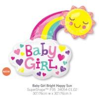Baby Girl Bright Happy Sun 氣球