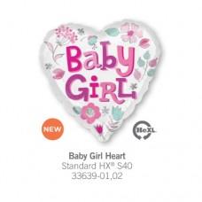 Baby Girl Heart 氣球