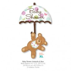Baby Shower Umbrella & Bear 氣球