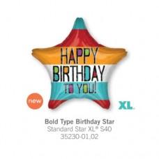 Bold Type Birthday Star 氣球