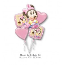 Minnie 1st Birthday Girl  氣球組合