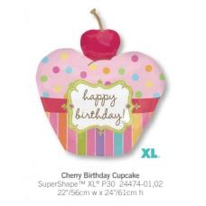 Cherry Birthday Cupcake 氣球