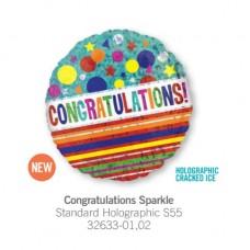 Congratulations Sparkle 氣球