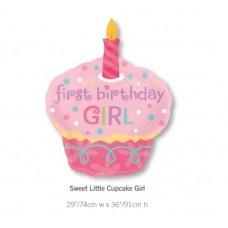 Sweet Little Cupcake Girl 氣球