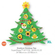 Emoticon Christmas Tree氣球