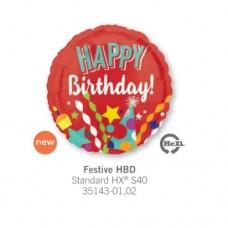 Festive HBD 氣球