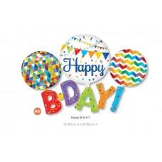 Happy Birthday 組合氣球