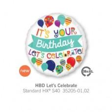 HBD Lets Celebrate 氣球
