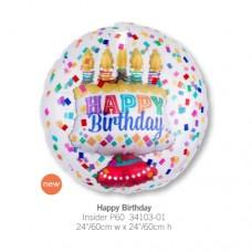Happy Birthday 透明球中球