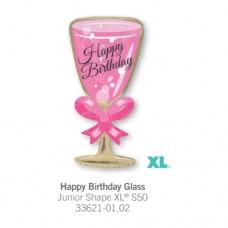 Happy Birthday Glass 氣球
