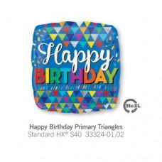 Happy Birthday Primary Triangles 氣球