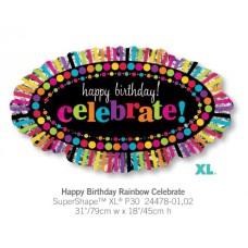 Happy Birthday Rainbow Celebrate 大帳篷氣球