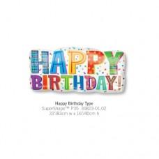 Happy Birthday Type 氣球