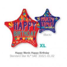 Happy Words Happy Birthday 氣球