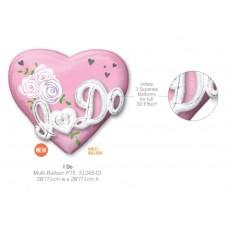 I Do Heart Pink 氣球