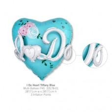 I Do Heart Tiffany Blue 氣球