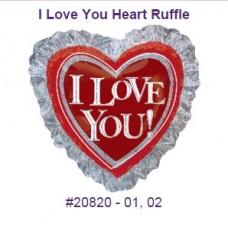 I Love You Ruffle 氣球