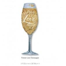 Forever Love Champagne 香檳杯氣球
