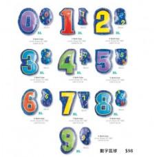 彩色數字氣球