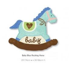 Baby Blue Rocking Horse 粉藍色馬仔氣球
