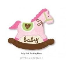 Baby Pink Rocking Horse 粉紅色馬仔氣球