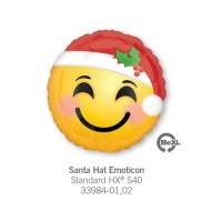 Santa Hat Emoticon 氣球