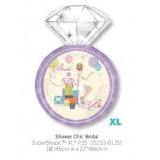 ShowerChicBridal 粉紫色鑽石介指氣球