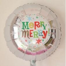 銀色Merry Merry氣球