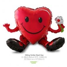 Sitting Smiley Heart Guy 氣球