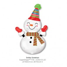 Smiley Snowman 氣球