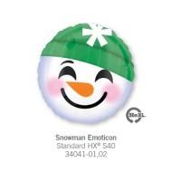 Snowman Emoticon氣球