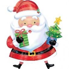 Santa With Tree氣球